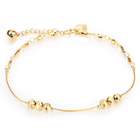 Wholesale Gold Filled Jewelry Prices - Wholsle Price 18k Gold Plated Lantern Anklet Bracelet Cubic Zirconia Crystal Foot Chain Sandal Beach Jewelry
