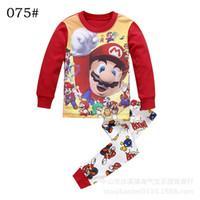 Wholesale Cheap Baby Clothes Sets - Spring Autumn Kids Pajamas Baby Boys Clothing Long Sleeve Tiger PJS Cotton Pajamas Childrens Pajamas Pyjamas Pijamas Cheap Price