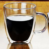 Wholesale Double Resistance - Double Deck Glass Cup Transparent With Handle Multi Function Tea Coffee Juice Mug High Temperature Resistance Hot Sale 11 8rr J R