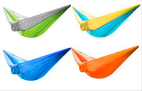 Wholesale nylon uses for sale - Group buy Outdoor one man hammock T nylon fabric light and easy to accept camping dormitory leisure cm Used for outdoor leisure hammock parac