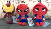 Wholesale Superheroes Plush Toys - 10 Inch 25cm Marvel Movie Superhero spiderman Homecoming Plush Toys spiderman Stuffed Animals for Kid's Gifts PP cotton dolls toys A080
