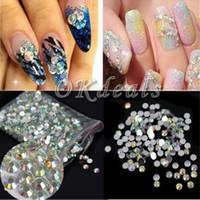 Wholesale Wholesale Crystal Flatback - 2000pcs 3mm Sparkling Resin Crystal AB Round Rhinestones Flatback Nail Art DIY Hot
