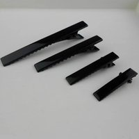 Wholesale Jewelry Findings Wholesale Prong - 50pcs lot 7 sizes Black New Prong Barrettes & Brooch Clips Finding, Alligator clips, Crocodile Clips Fit Jewelry DIY