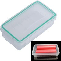 Mais recentes 18650 Battery Case Holder Storage Box Hard Wear-resistant Plastic Case Baterias impermeáveis ​​Protector Cover Free Shipping