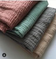 Wholesale Crinkled Scarfs - Wholesale- N15 Plain crinkle viscose wrap hijab .thicker viscose shawl ,scarf ,180*90cm ,10pcs 1lot ,can choose colors