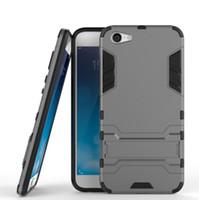 Wholesale Bbk Vivo - For BBK Vivo X9 Plus Case Rugged Combo Hybrid Armor Bracket Impact Holster Protective Cover Case For BBK Vivo X9 Plus