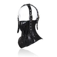 Wholesale half mask sex for sale - NEW Design half enclosed head neck restraint headgear Bondage Hood Mask Sex toys Masks for Couple SM Games