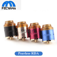 Wholesale Dual Hole - Authentic GeekVape Peerless RDA 24mm Diameter Rebuidable Dripper Tank with 9 Holes Airflow Single Dual Coil by Original Geek Vape