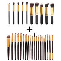 Wholesale Cheap Eyebrow Makeup Kit - Makeup Brushes Set Pro Cosmetic Brush Cheap Eyebrow Foundation Shadows Eyeliner Lip Kabuki Make Up Tools Kits maquiagem