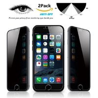 Wholesale Screen Protectors Privacy - Privacy Tempered Glass for Iphone 7 Plus Iphone 6S Plus 5 Samsung Galaxy S7 S6 S5 Note 7 Note 5 Screen Protector Anti-Spy