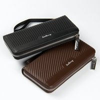 Wholesale Best Cell Phone Holder - 2017 Men Wallets Men Purse Clutch Bag PU Leather Long Wallet Phone Holder Card Holders Carteira Masculina Best Gift HQB1812