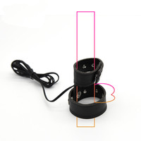 Wholesale Leather Sex Accessories - Dual Contact Electro Penis Strap Electro Penis Conductive Ribbon PU Leather Cock Ring Electric Shock Sex Toy DIY Accessories