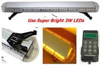 Wholesale Amber Leds - Free shipping super bright 3 Watt leds lightbar full size lightbar tow led light bar truck warning lightbar