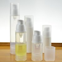 Wholesale Bottle Pump For Cosmetic Packaging - 15ml 30ml 50ml press cap airless bottle white clear color airless pump for lotion BB cream vacuum bottle cosmetic packaging F2017758