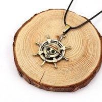 скелетные части оптовых-One Piece ожерелье металлический сплав ожерелье скелет руль кулон личность мода подарок 10 шт. / лот Бесплатная доставка