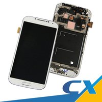 Wholesale Display Lcd S4 - Best AAAA Quality For Samsung Galaxy S4 LCD i9500 I337 M919 I545 I9502 I9505 E300K Display Touch Screen With Frame Parts Free DHL