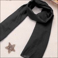 Wholesale Korean Style Scarves - Gold Hands 2017 Korean New Style Spring Autumn Baby Boys Girls Warm Scarf Signature Cotton Plain 13 Colors 140*40 cm Free Shipping