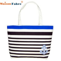 Wholesale Borse Donna - Wholesale- SIF Canvas Blue Anchor Pattern Shopping Shoulder Bags Women Handbag Beach bag borse da donna cymka JUN 07