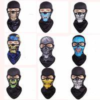 Wholesale Plain Cycling Cap Wholesale - Skull Masks Breathable Tactical Headgear Soft Bandanas CS Mask Outdoor Sports Cap Bicycle Cycling Fishing Motorcycle Masks Full Face Mask