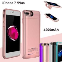 4200mAh Power Case für iPhone 7 Plus Emergency External Wiederaufladbare Handy Portable Power Ladegerät Bank für iPhone 6S Plus BAC026