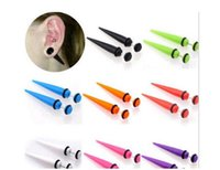 Wholesale Taper Earrings Sizes - 1 pair 16g 1.2mm UV Cheater Fake Ear Plug Tapers Stretchers Expanders Piercing (Size: 41 mm, Color: Multicolor)