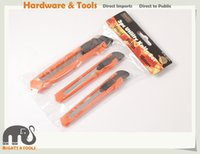 Wholesale Wholesale Snap Blade Utility Knife - 3pc Set Snap-off Utility Knife Set Cutter Knives: 2pc 9mm+1pc 18mm Blades