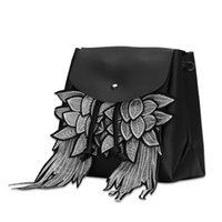 Wholesale Large Cheap Feathers - Decal wings personality bag Dengzi00 2017 Cheap price good quality Fashion trend bag Large-capacity college style