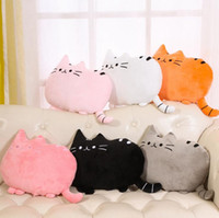 Cute Cat Cartoon Cushion Plush Recheado 30 * 40cm Throw Pillow Cat Back Cushion Home Decor 100pcs OOA3521