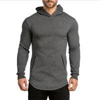 Wholesale Black Zip Hoodies - Wholesale-New Arrival Free Shipping Fashion Men's Long Black Hoodies Sweatshirts Feece With Side Zip Longline Hip Hop Streetwear Shirt