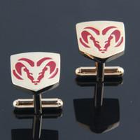 Wholesale Logo Luxury Cars - 2016 New Fashion Car Logo Cufflink Cuff Link Free Shippingb Luxury Brand Copper Material Big Promotion Can Drop Shipping HD0081