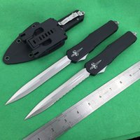 Wholesale E Pocket - microtech Troodon plus D E blade double action 3 models Hunting Folding Pocket Knife Survival Knife Xmas gift for men 1pcs