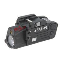 luzes de rifle laser venda por atacado-Tactical CNC Fazendo SBAL-PL LED Light Com Pistola Laser Vermelho / Rifle Lanterna Black / Dark Earth