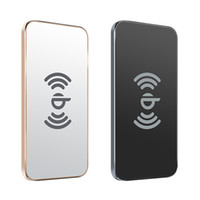 Wholesale Wireless Indicator Light - Newest Awei W1 Qi Wireless Charging Transmitter Aluminum Alloy Pad Dual Coil with Indicator Light