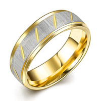Wholesale Gold Filled Rings Prices - Titanium Steel Fashion Twill Couple Ring Fashion Steel Ring Jewelry Wholesale Price High Quality Gold Plated Rings Size 6 7 8 9 10 R099-A-8
