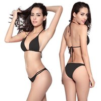Wholesale Cheap Women S Swimwear - Cheap Brazil Bikini Swimwear Sexy 11 Colors Lingerie Europe & America Swimwear Free Shipping Size S-XL DM058
