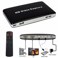 Freeshipping USB 1080P HDMI HDD Game AV HD Game Video Capture Recorder + Télécommande Lecture pour HDD / TV / Video Game avec adaptateur secteur UE