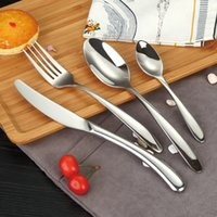 Wholesale BERGLADER high quality food grade thicken Western stainless steel western style restaurant hotel steak knife and fork spoon tableware s