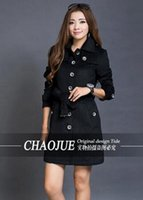 Wholesale Women S Single Breasted Coat - The spring and autumn period and the han edition British leisure fashion elegant woman single-breasted trench coat   S-4XL