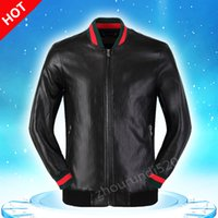 Wholesale Mens Embroidery Designs - New Fashion Design Embroidery Unisex Bomber Jacket Medusa 2016 Mens PU Leather Motorcycle Pilot Jackets M--3XL