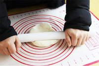 Wholesale Silicone Rolling Cake - 2017 New Silicone Fiberglass Baking Sheet Rolling Dough Pastry Cakes Bakeware Liner Pad Mat Oven Pasta Cooking Tools Kitchen