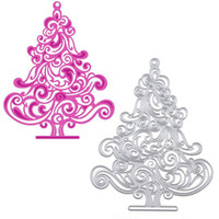Wholesale Diy Paper Christmas Tree - Christmas Tree Metal Cutting Dies Stencils for DIY Scrapbooking photo album Decorative Embossing Paper Cards Template