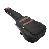 padded bass gig bag - 2017 New inch Classic Soft Acoustic Guitar Bass Case Bag Holder Cotton Padded Gig Bag Case Guitar Backpack Black