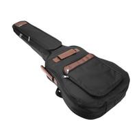 ingrosso casi di chitarra basso-2017 Nuovo 41 pollici Classic Soft Chitarra acustica Bass Case Bag Holder imbottito in cotone Gig Bag Case Guitar Zaino nero