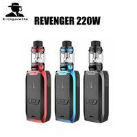 Wholesale E Cigarettes Free Shipping - 100% Authentic Vaporesso Revenger 220W Kit With 5ml NRG Tank E Cigarette Starter Kit Free Shipping