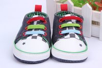 Wholesale Canvas Frog Baby Shoes - Wholesale- New Born Baby Cartoon frog baby shoes,new born baby prewalker girls shoes