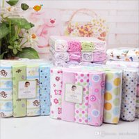 Wholesale Cotton Crib Blankets - Kids Bedding Sheets Owl Print Dot Flower Bed Sheets Sleeping Sheets Cotton Bedsheet Flannel Blankets Baby Beding Blanket Bedclothes A1127