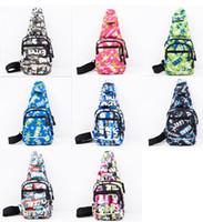 koreanischer bunter rucksack großhandel-Koreanische neue Version Brusttasche Tasche bunte Brust Armband Sport lässig Umhängetasche Reisen Duffel Rucksack