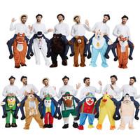 ingrosso costumi di compleanno per adulti-2017 nuovi costumi cavalcare sulla spalla in costume in costume per la festa di compleanno mascotte Natale Attività di Halloween Formato adulto