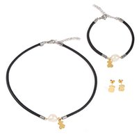 Wholesale Bracelet Sets Coloured - TL Stainless Steel Bear Jewelry Set 8 Colours For Women Hot Selling New Fashion Traditional Style