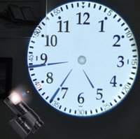 Wholesale Shadow Clock - FREE SHIPMENT New LED Analogue Projection Wall Clock Cold Light Beam Virtual Shadow Home Bedroom Classical Pointer Clock